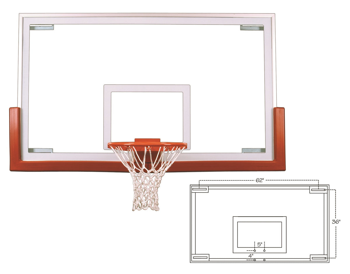First Team Official Competition Glass Backboard 42 x 72 inch - FT234