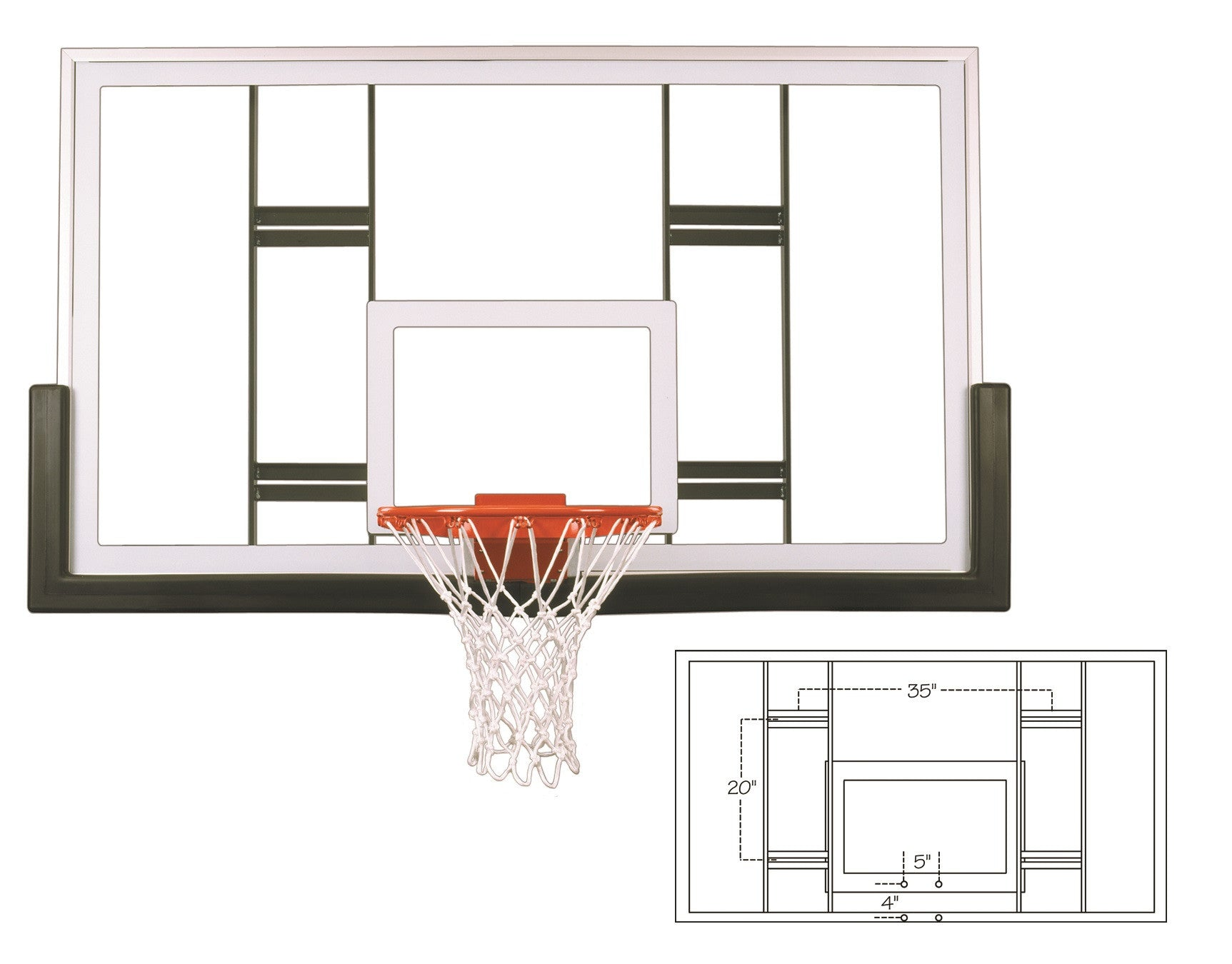 First Team Official Competition Glass Conversion Backboard 42 x 72 inch - FT239