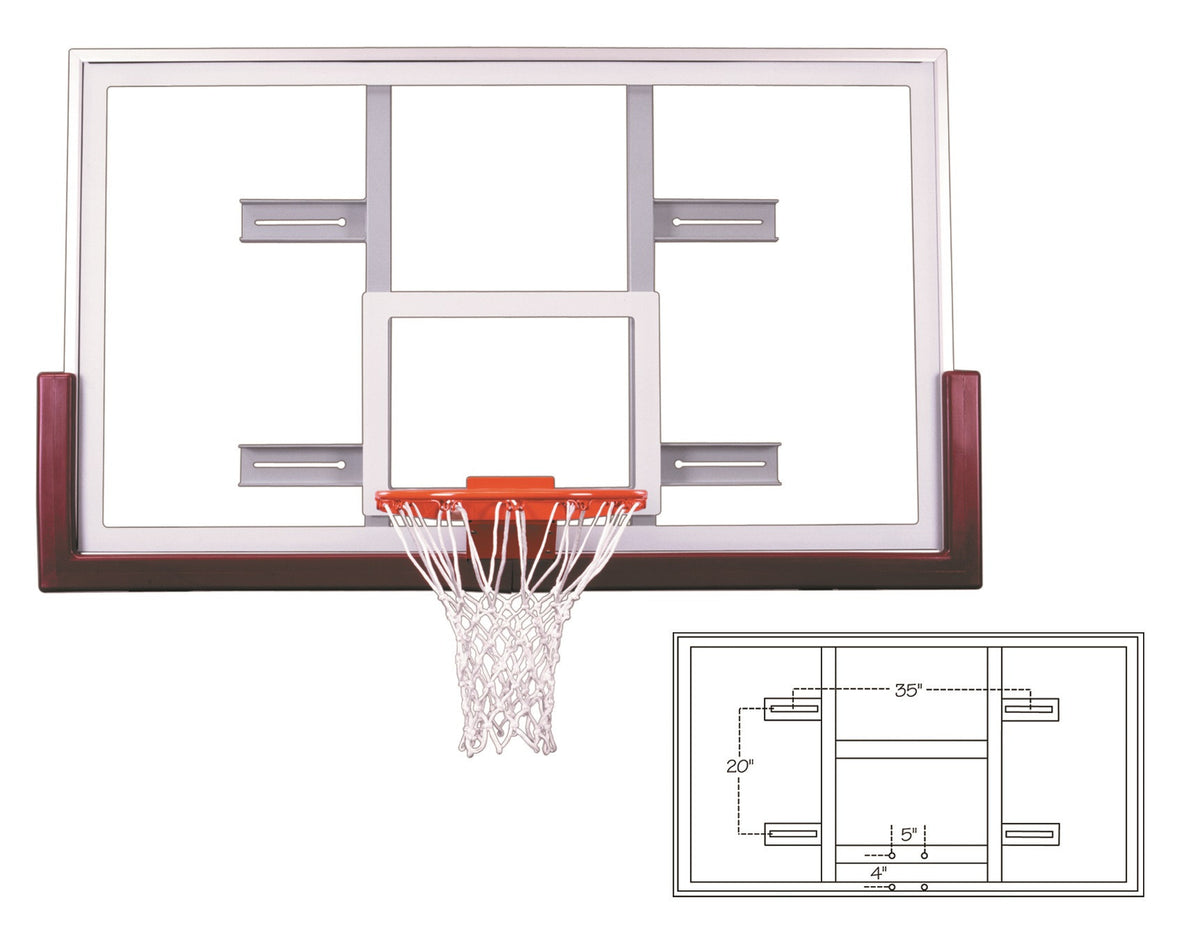 First Team Official Competition Glass Conversion Backboard Unbreakable 42 x 72 inch - FT240