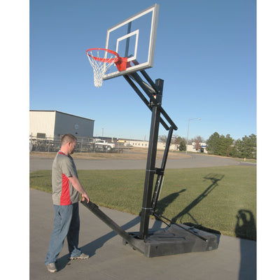 First-Team-OmniSlam-Portable-Basketball-Hoop-Install