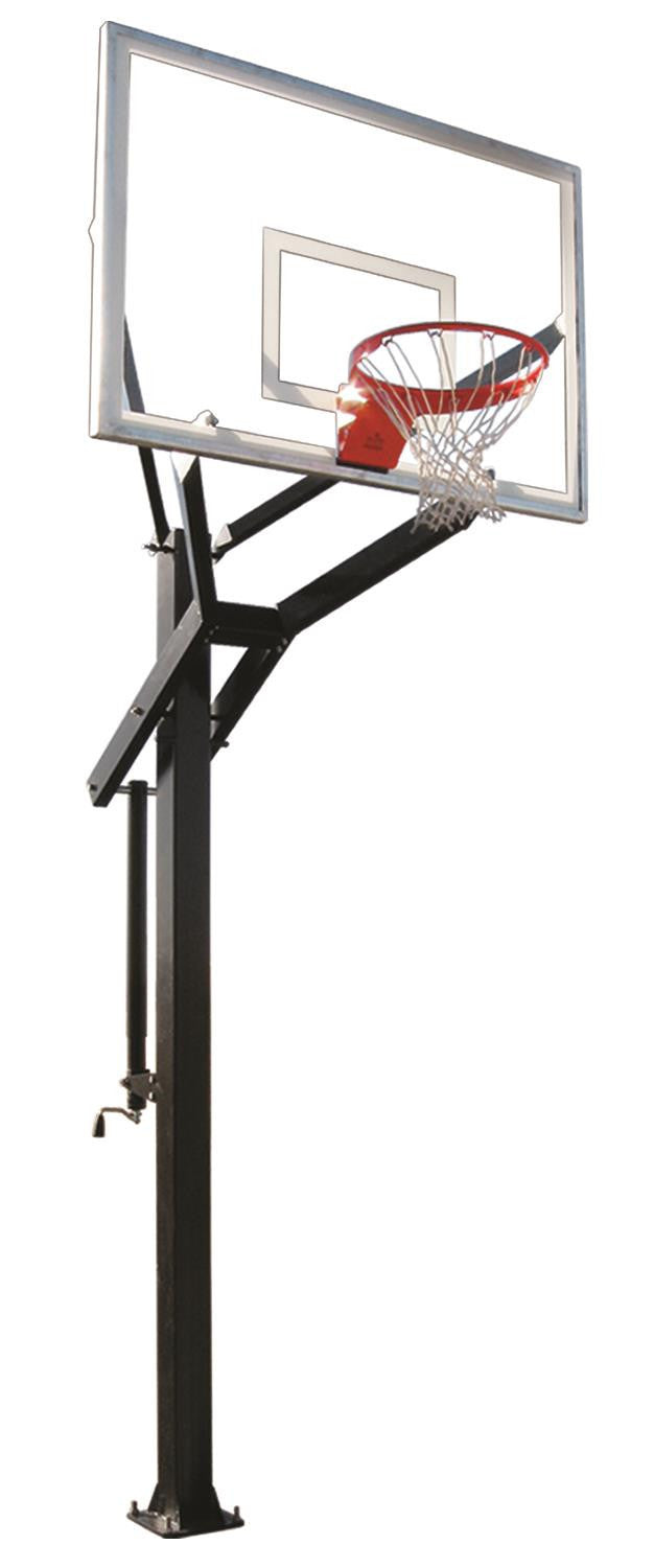 First Team Powerhouse 560 In Ground Outdoor Adjustable Basketball Hoop 60 inch Tempered Glass