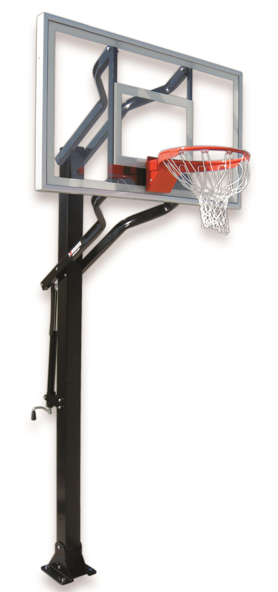 First Team Powerhouse Challenger III In Ground Outdoor Adjustable Basketball Hoop 54 inch Acrylic