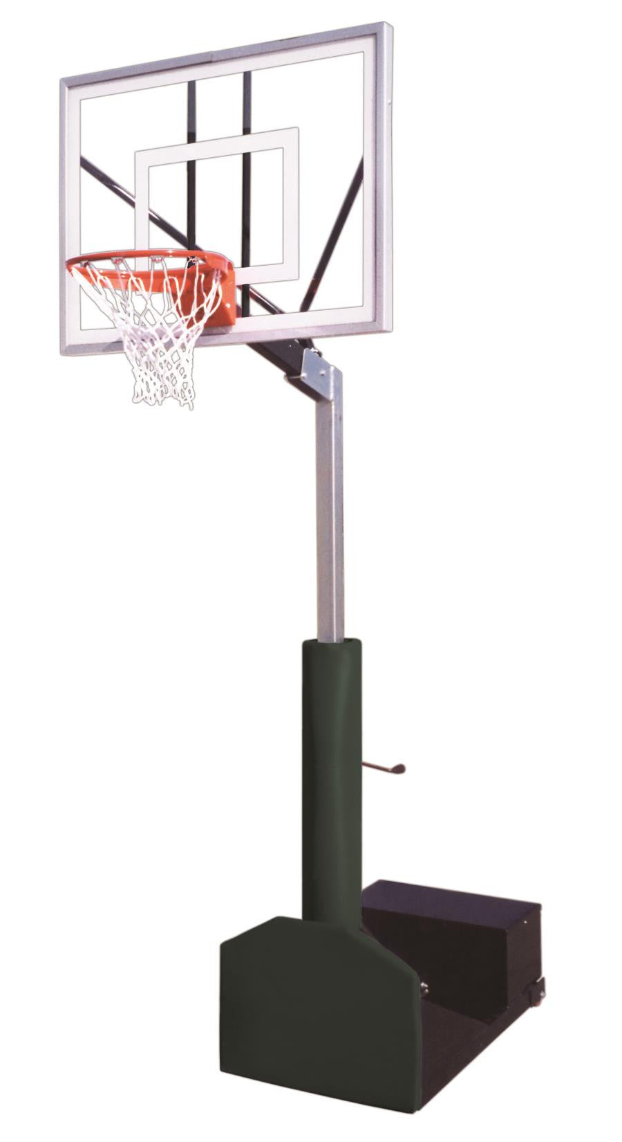 First Team Rampage Eclipse Adjustable Portable Basketball Hoop 54 inch Tempered Glass