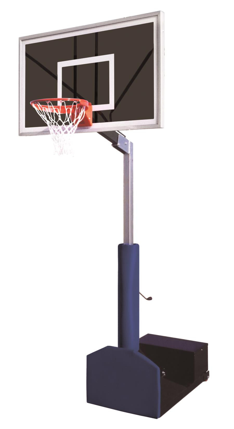 First Team Rampage Eclipse Adjustable Portable Basketball Hoop 60 inch Smoked Glass