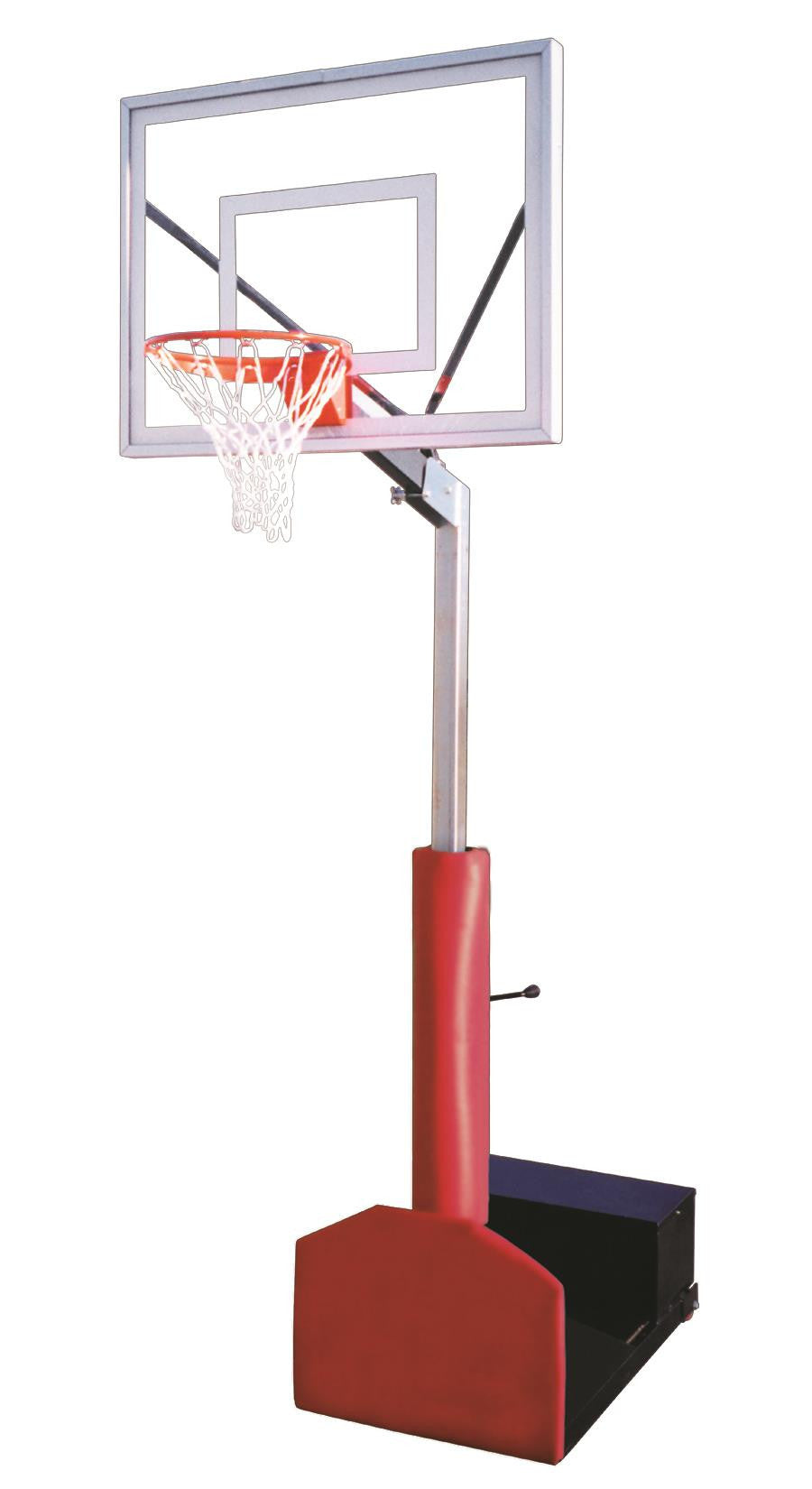 First Team Rampage II Adjustable Portable Basketball Hoop 48 inch Acrylic