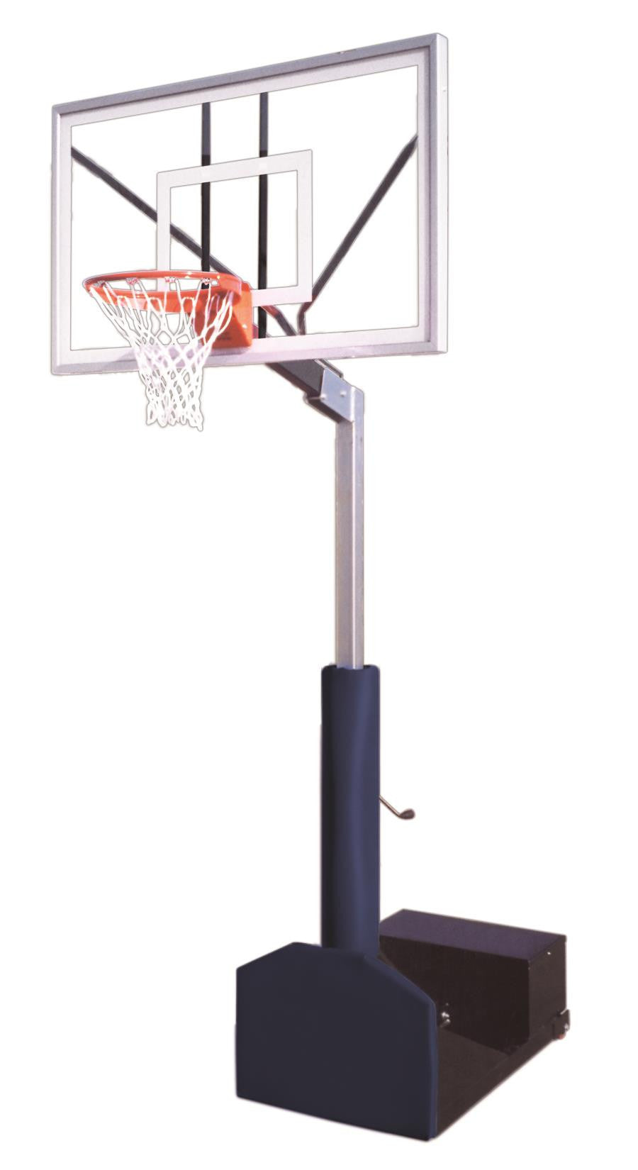 First Team Rampage Nitro Adjustable Portable Basketball Hoop 60 inch Tempered Glass