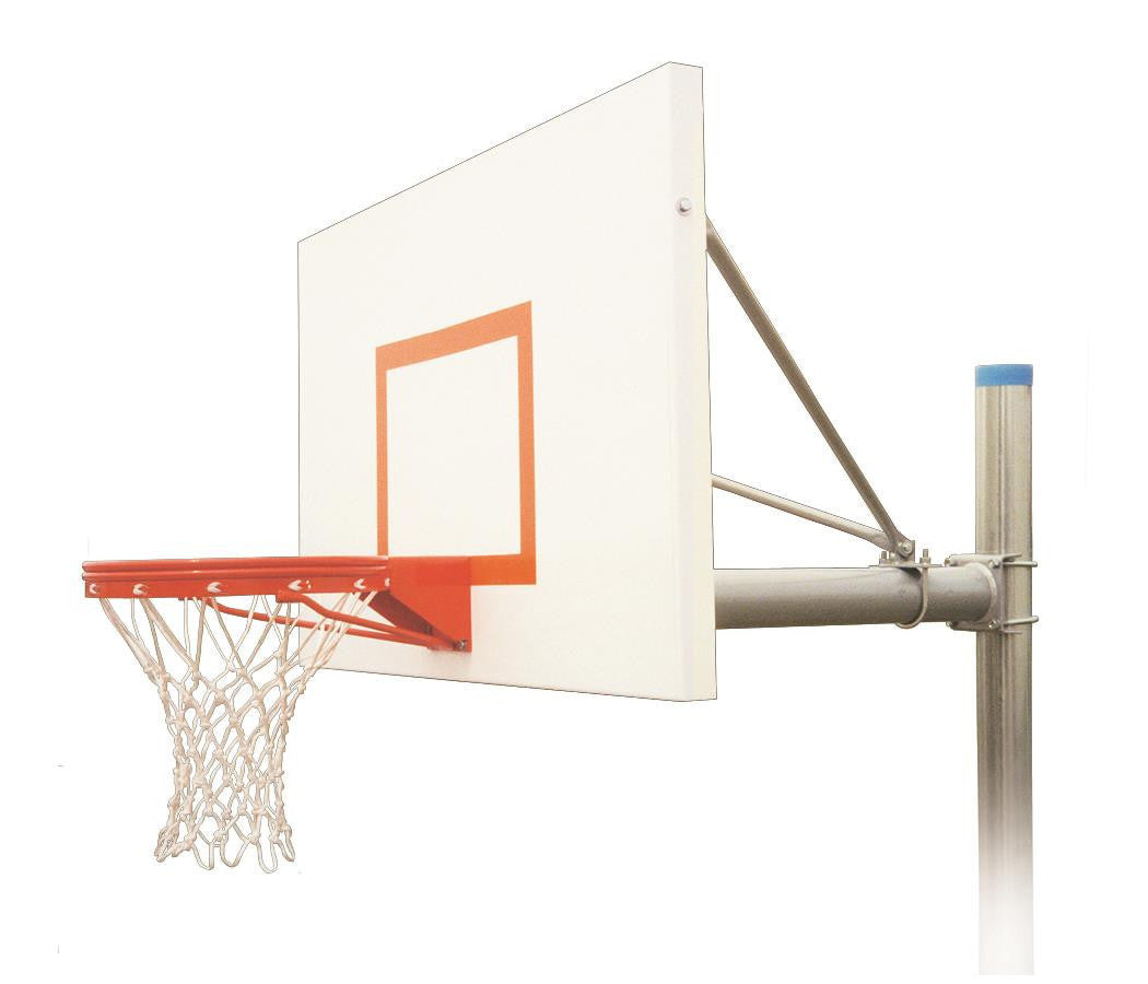 First Team Renegade Endura In Ground Outdoor Fixed Height Basketball Hoop 72 inch Aluminum