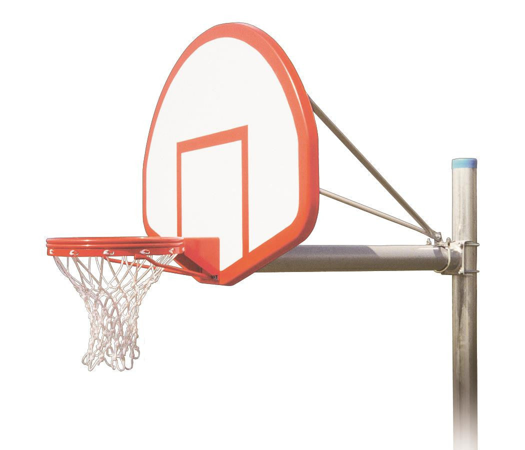 First Team Renegade Flight In Ground Outdoor Fixed Height Basketball Hoop 54 inch Fan Shaped Fiberglass