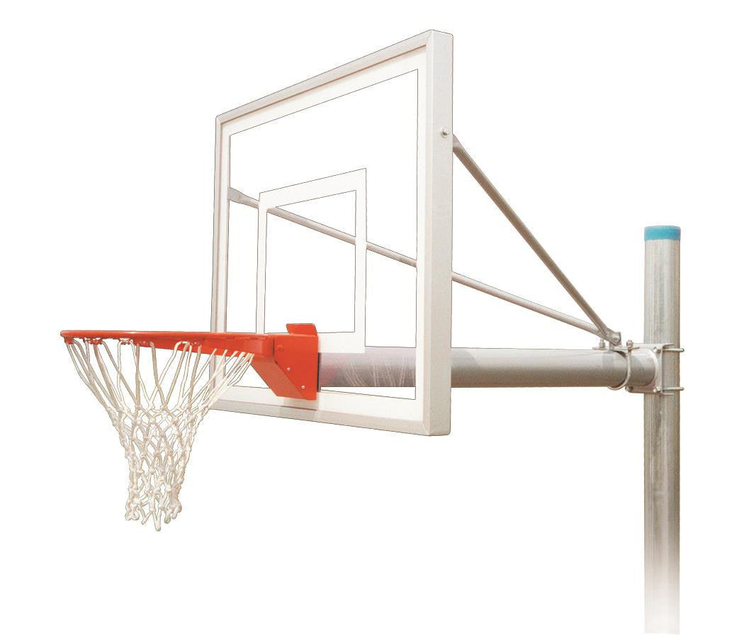 First Team Renegade III In Ground Outdoor Fixed Height Basketball Hoop 54 inch Acrylic