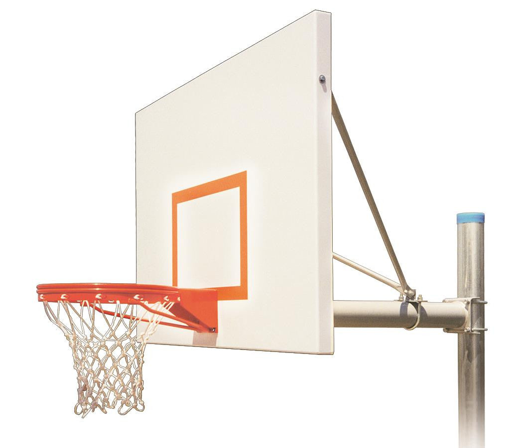 First Team Renegade Impervia In Ground Outdoor Fixed Height Basketball Hoop 60 inch Aluminum