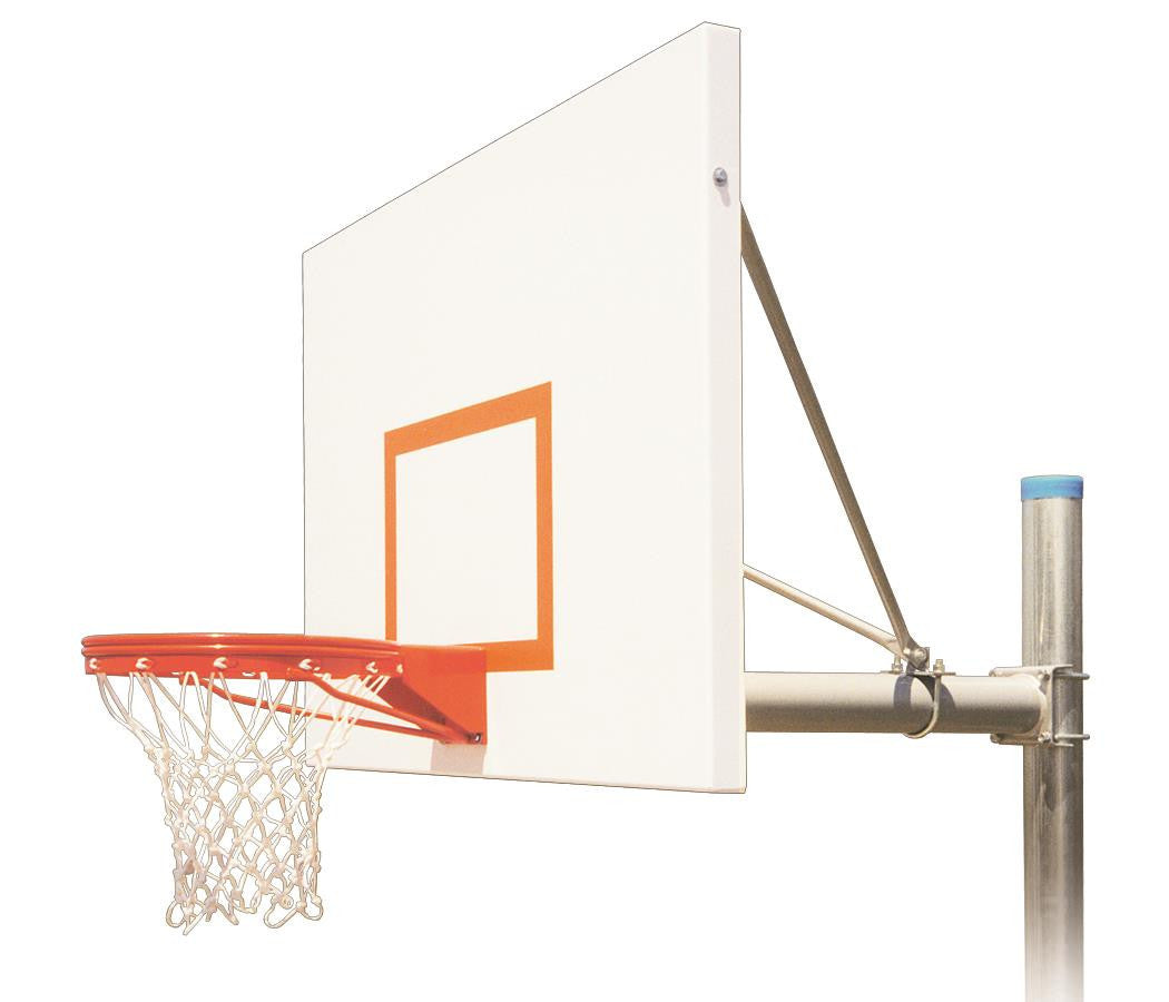 First Team Renegade Playground In Ground Outdoor Fixed Height Basketball Hoop 60 inch Steel