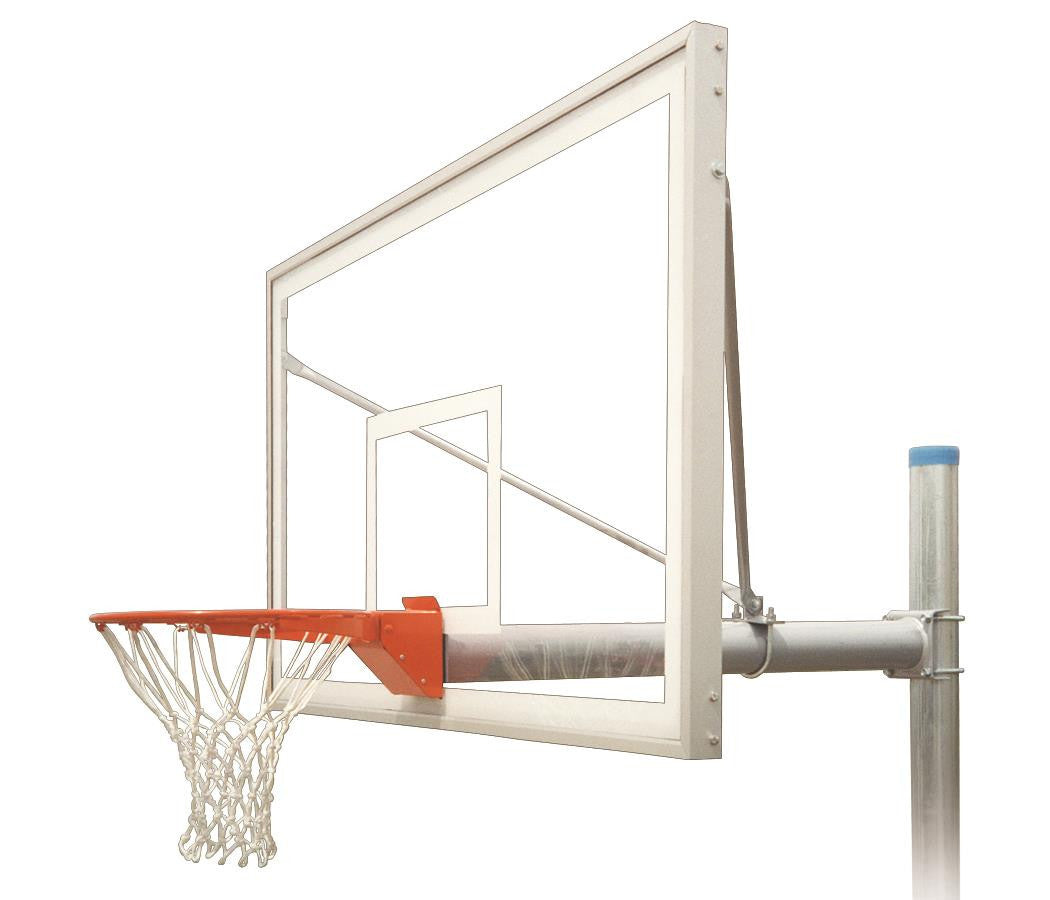 First Team Renegade Supreme In Ground Outdoor Fixed Height Basketball Hoop 72 inch Acrylic