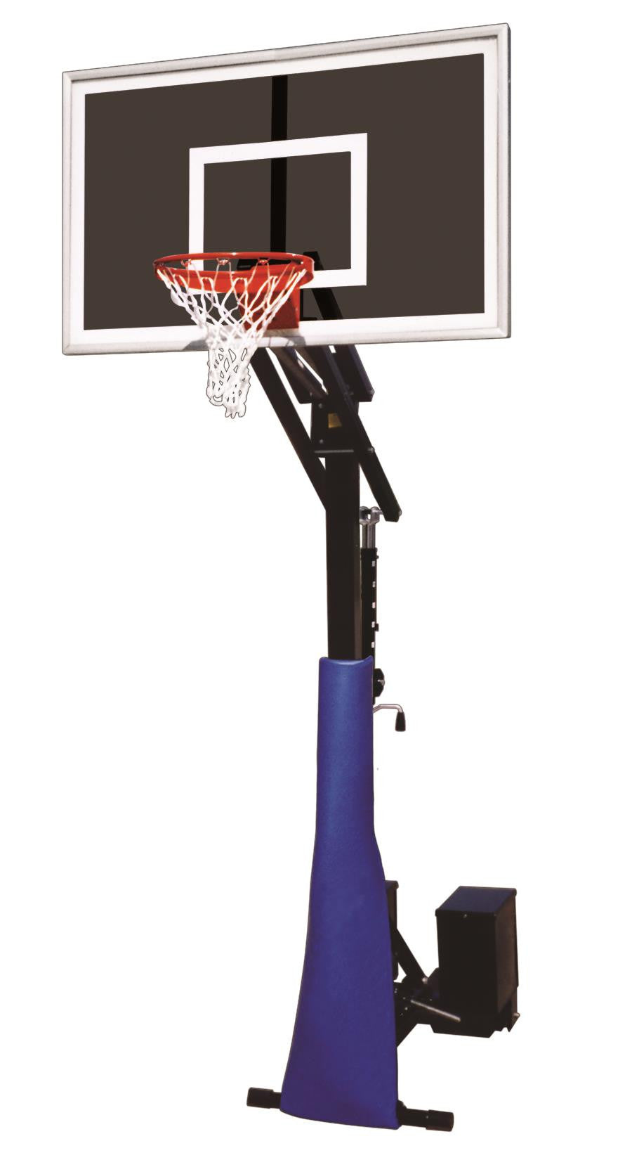 First Team Rolla Jam Eclipse Adjustable Portable Basketball Hoop 60 inch Smoked Glass