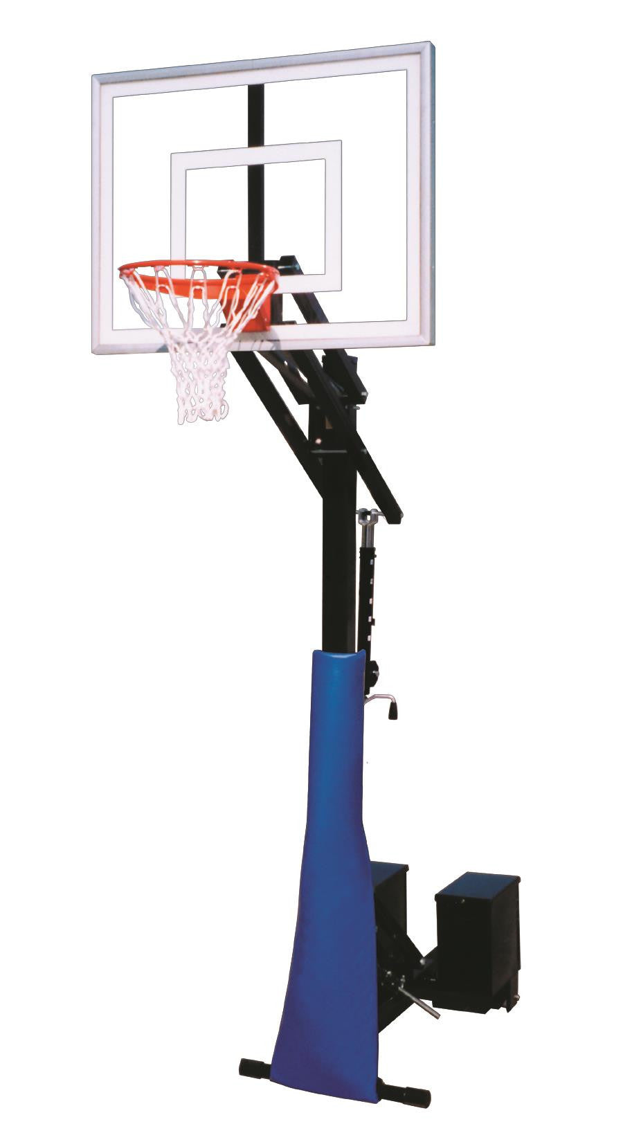 First Team Rolla Jam II Adjustable Portable Basketball Hoop 48 inch Acrylic