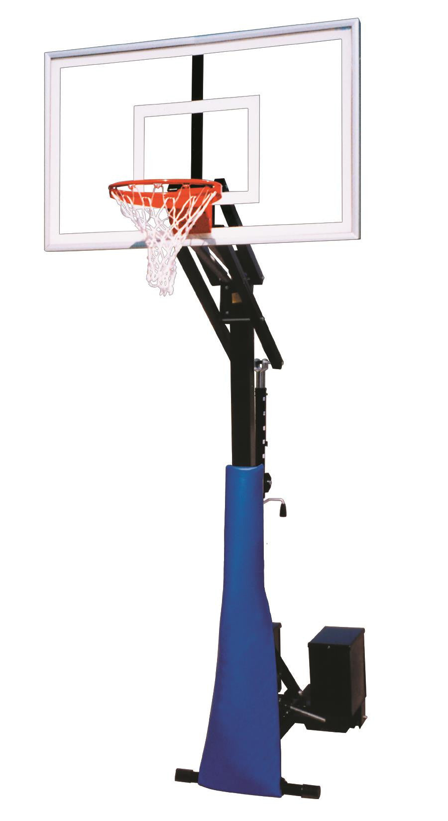 First Team Rolla Jam Nitro Adjustable Portable Basketball Hoop 60 inch Tempered Glass