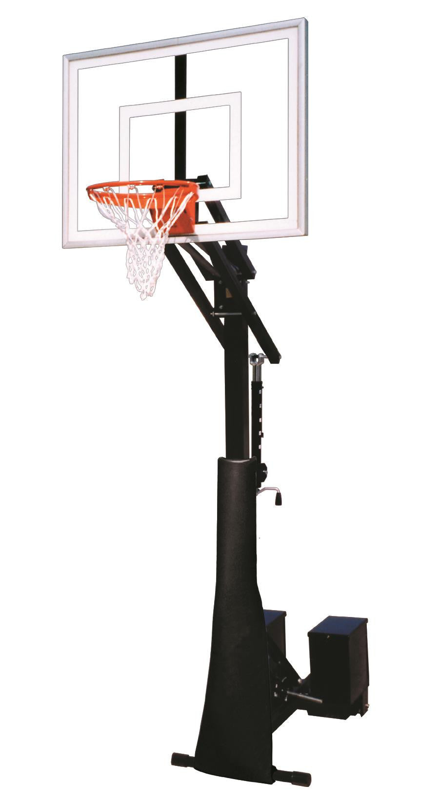 First Team Rolla Jam Turbo Adjustable Portable Basketball Hoop 54 inch Tempered Glass