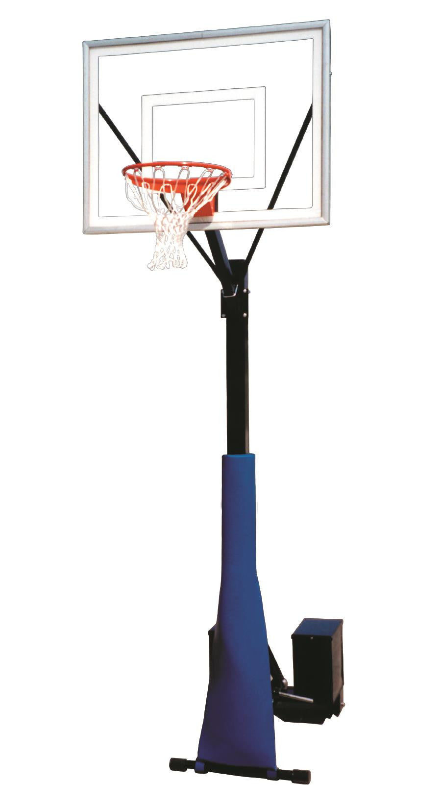 First Team Rolla Sport II Portable Fixed Height Basketball Hoop 48 inch Acrylic