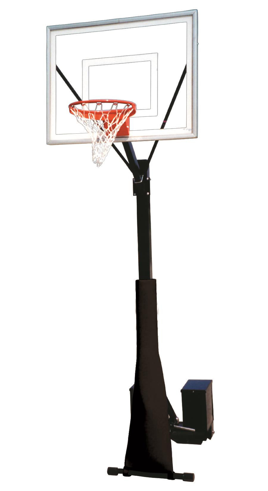 First Team Rolla Sport III Portable Fixed Height Basketball Hoop 54 inch Acrylic
