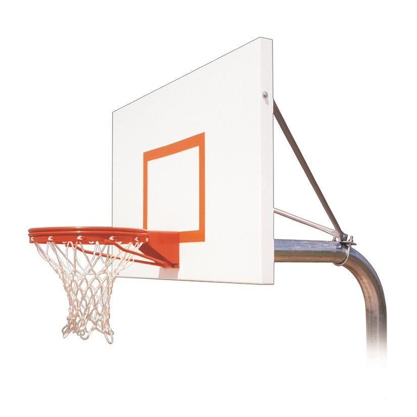 First Team Ruffneck Endura In Ground Outdoor Fixed Height Basketball Hoop 60 inch Aluminum