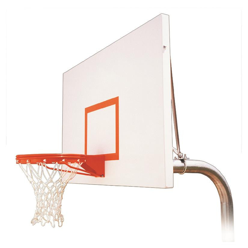 First Team Ruffneck Excel In Ground Outdoor Fixed Height Basketball Hoop 72 inch Steel
