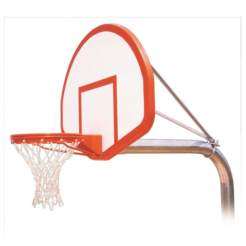 First Team Ruffneck Flight In Ground Outdoor Fixed Height Basketball Hoop 54 inch Fan Shaped Fiberglass