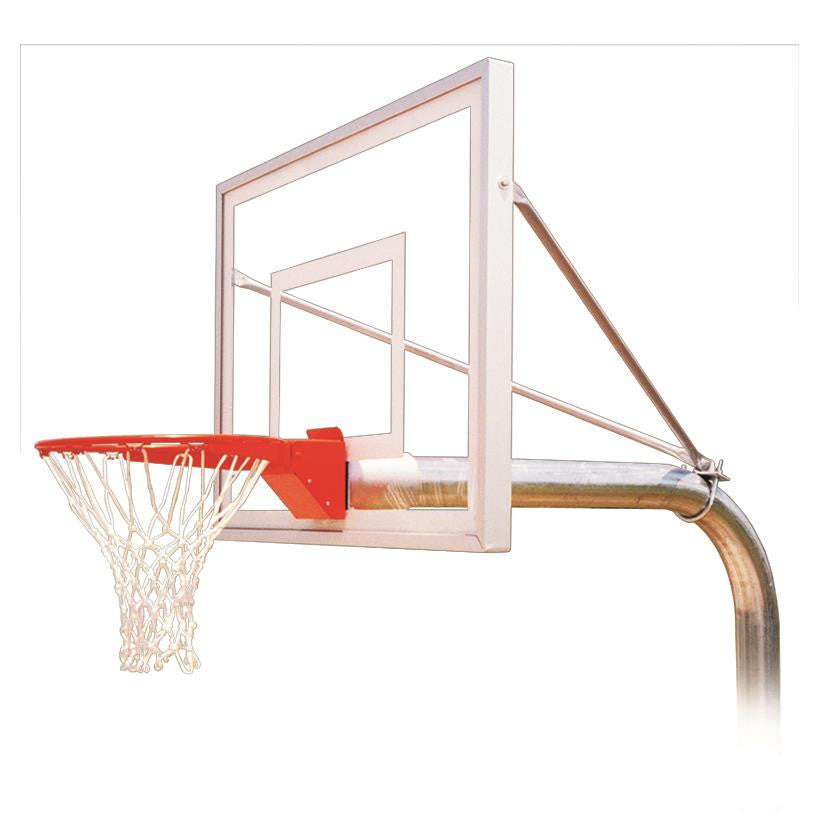 First Team Ruffneck III In Ground Outdoor Fixed Height Basketball Hoop 54 inch Acrylic