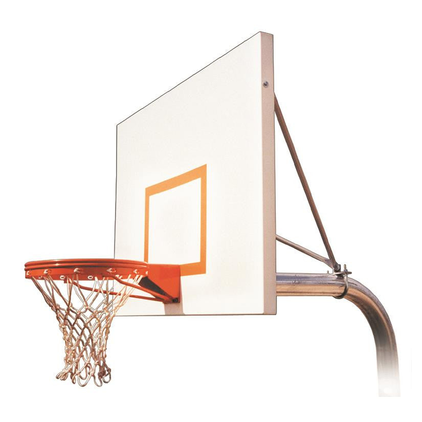 First Team Ruffneck Impervia In Ground Outdoor Fixed Height Basketball Hoop 54 inch Aluminum
