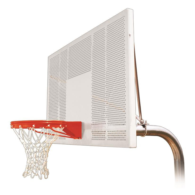 First Team Ruffneck Intensity In Ground Outdoor Fixed Height Basketball Hoop 72 inch Perforated Aluminum