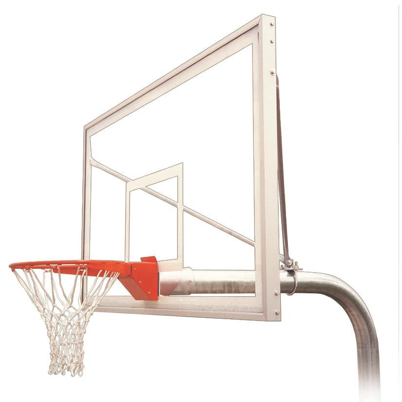 First Team Ruffneck Supreme In Ground Outdoor Fixed Height Basketball Hoop 72 inch Acrylic