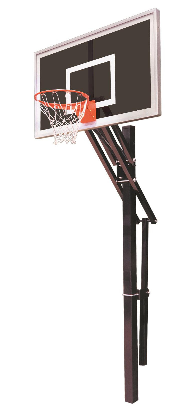First Team Slam Eclipse In Ground Outdoor Adjustable Basketball Hoop 60 inch Smoked Glass