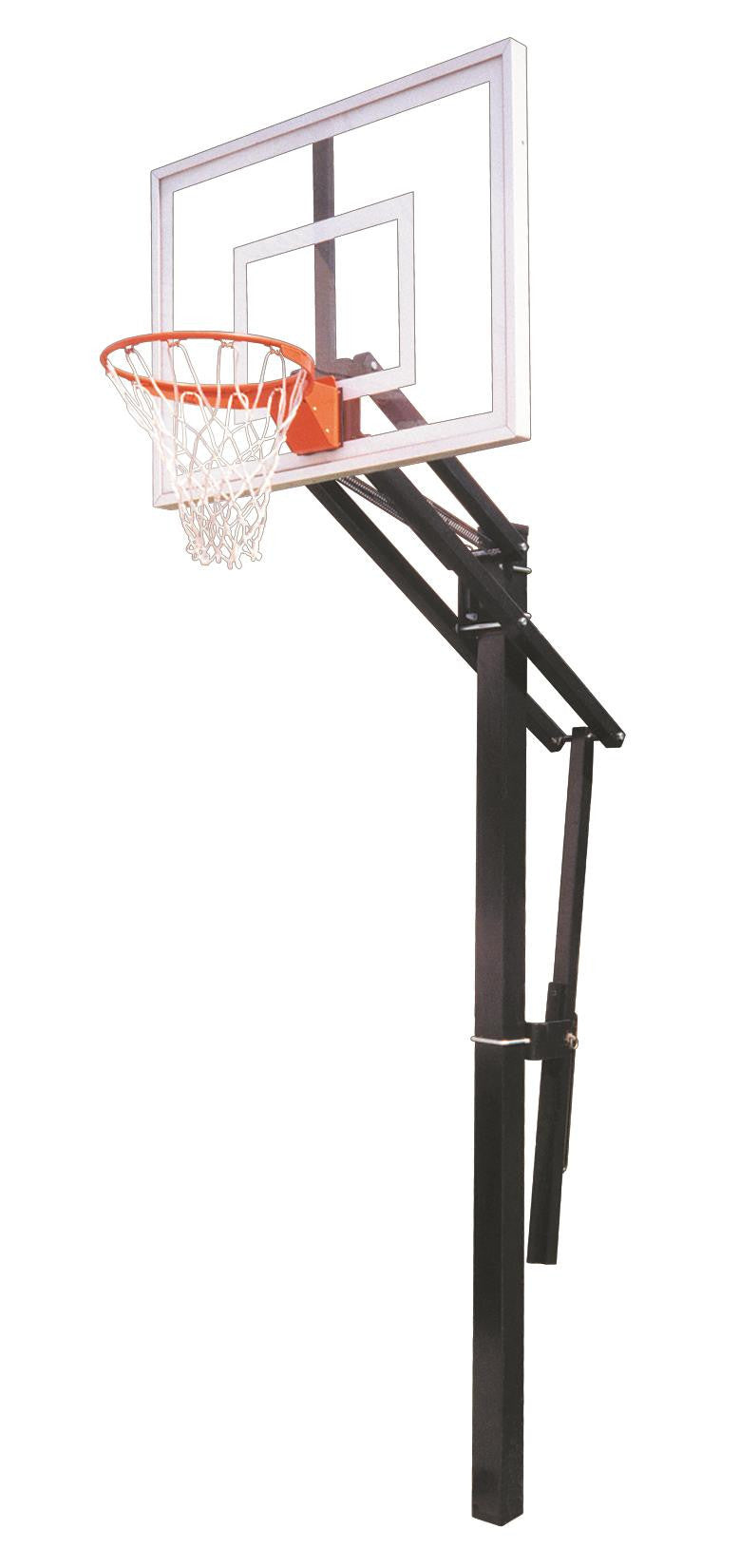 First Team Slam II In Ground Outdoor Adjustable Basketball Hoop 48 Inch Acrylic
