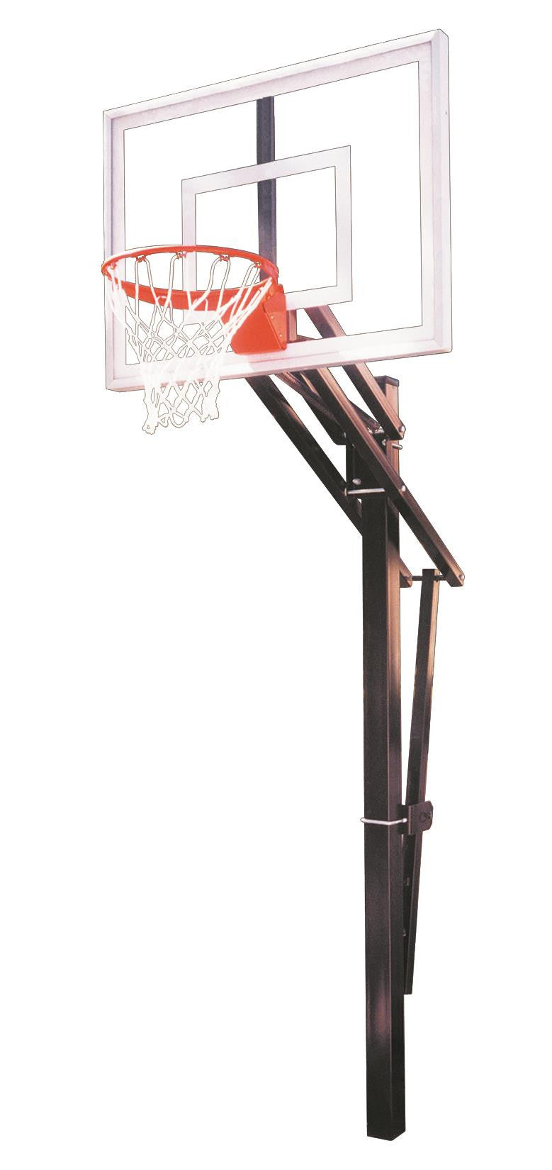 First Team Slam III In Ground Outdoor Adjustable Basketball Hoop 54 Inch Acrylic