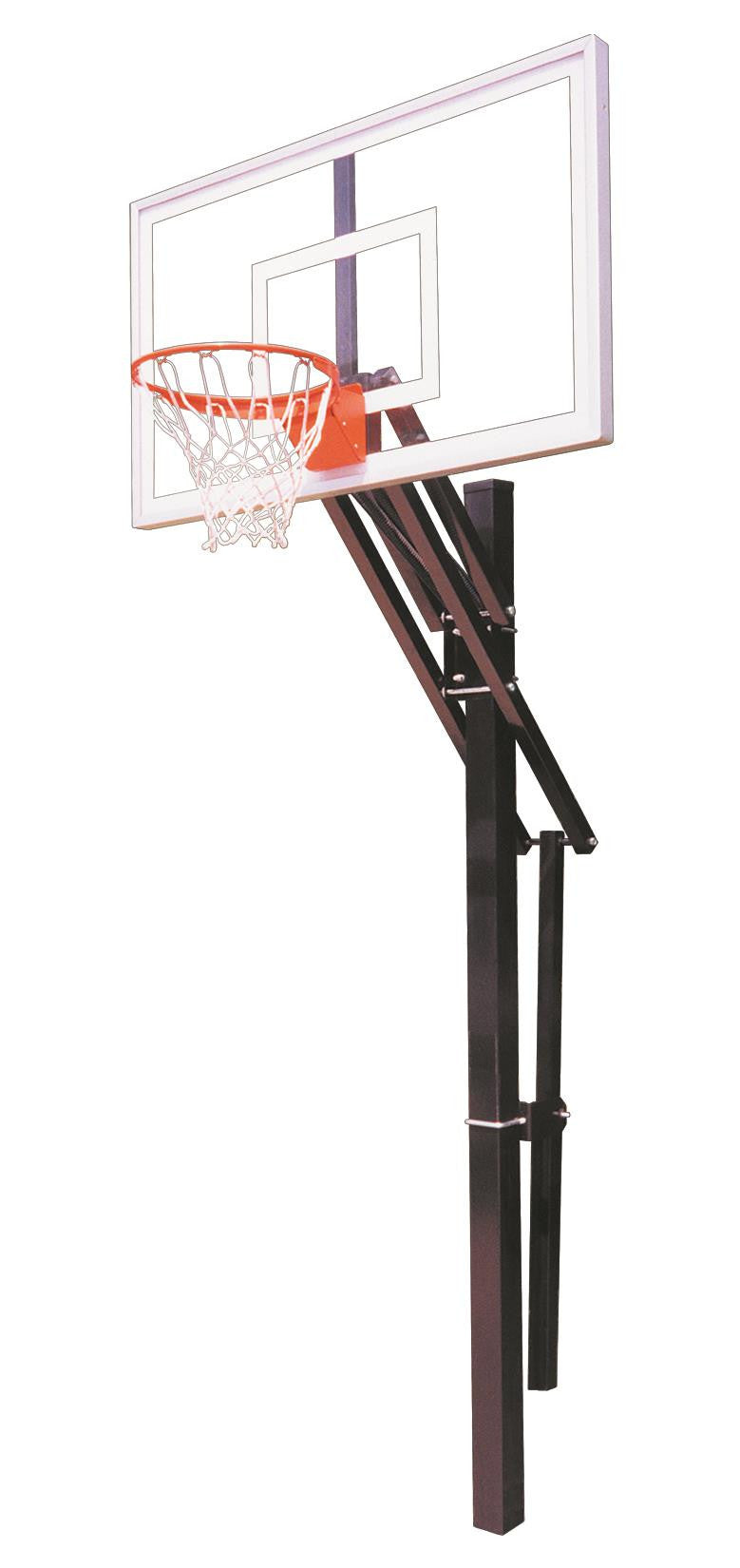 First Team Slam Select In Ground Outdoor Adjustable Basketball Hoop 60 Inch Acrylic