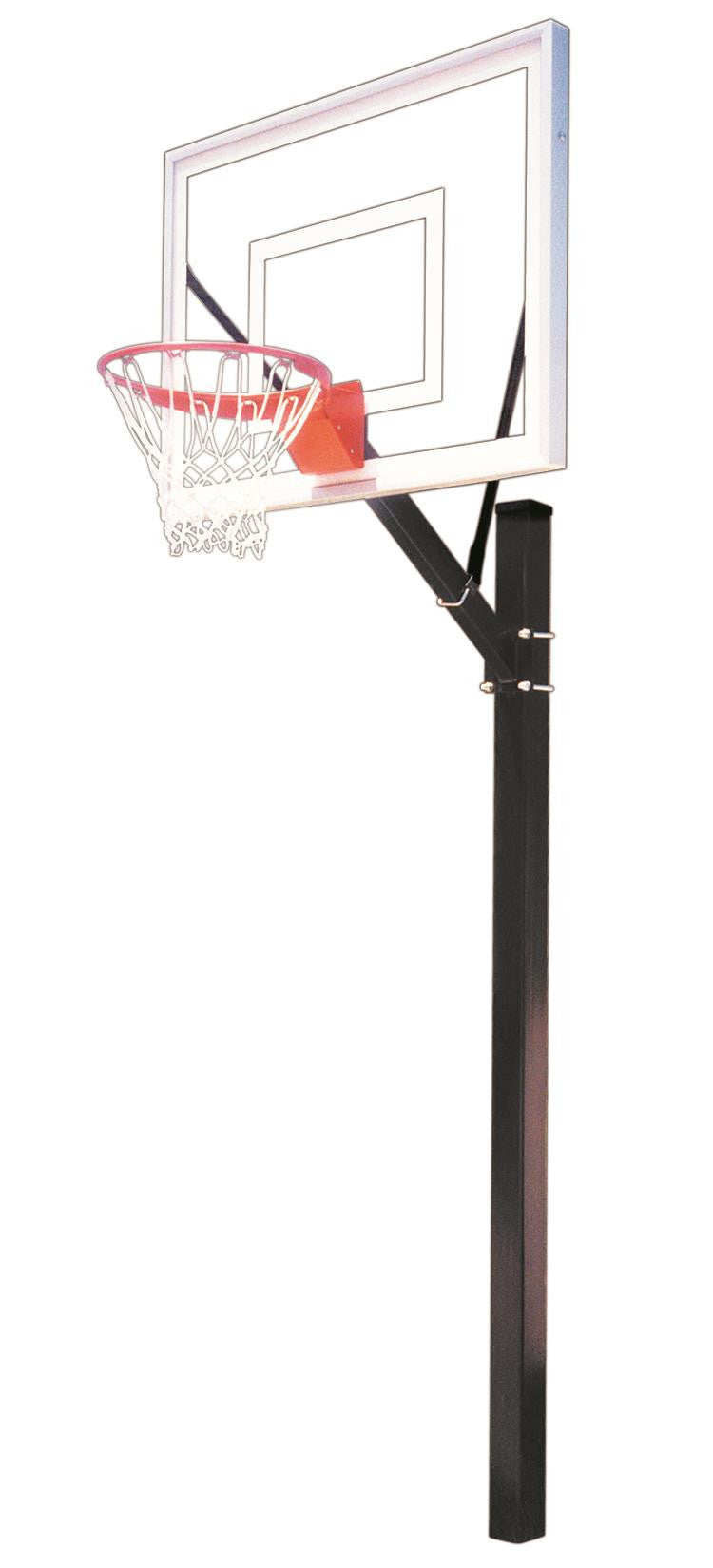 First Team Sport III In Ground Outdoor Fixed Height Basketball Hoop 54 inch Acrylic