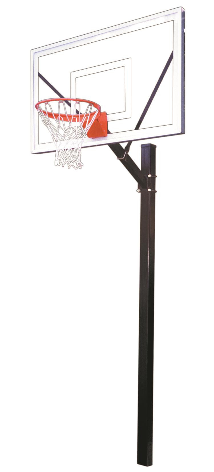 First Team Sport Select In Ground Outdoor Fixed Height Basketball Hoop 60 inch Acrylic