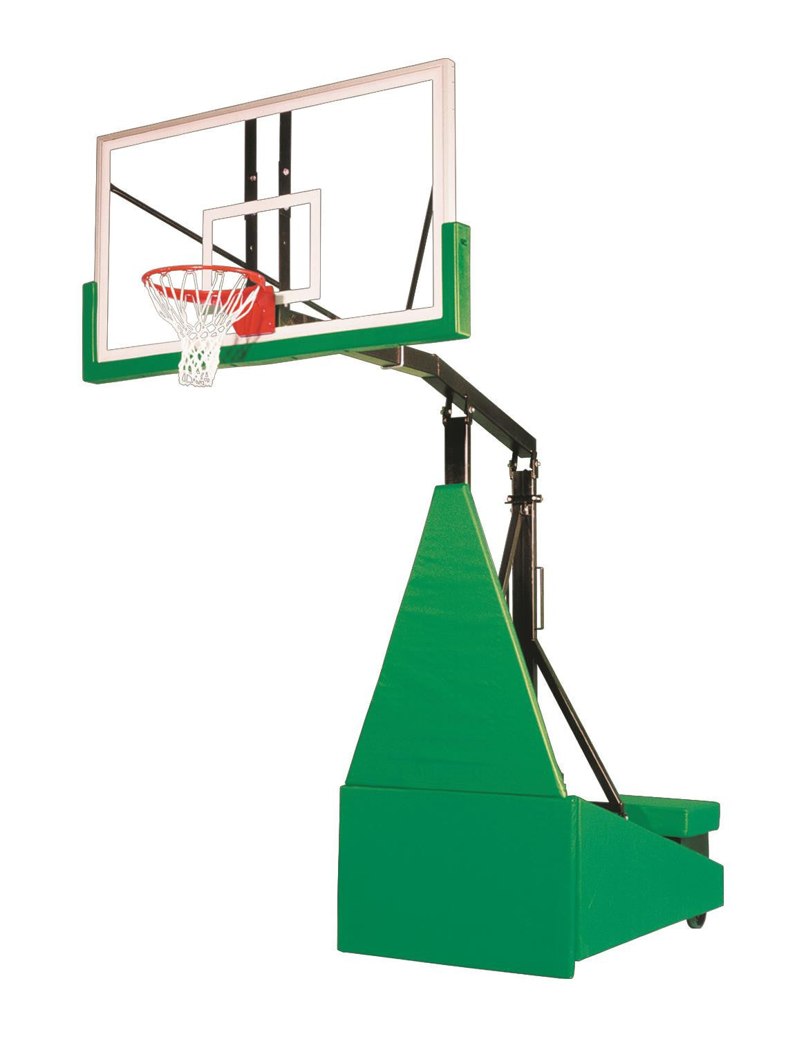 First Team Storm Arena Portable Adjustable Basketball Hoop 72 inch Tempered Glass