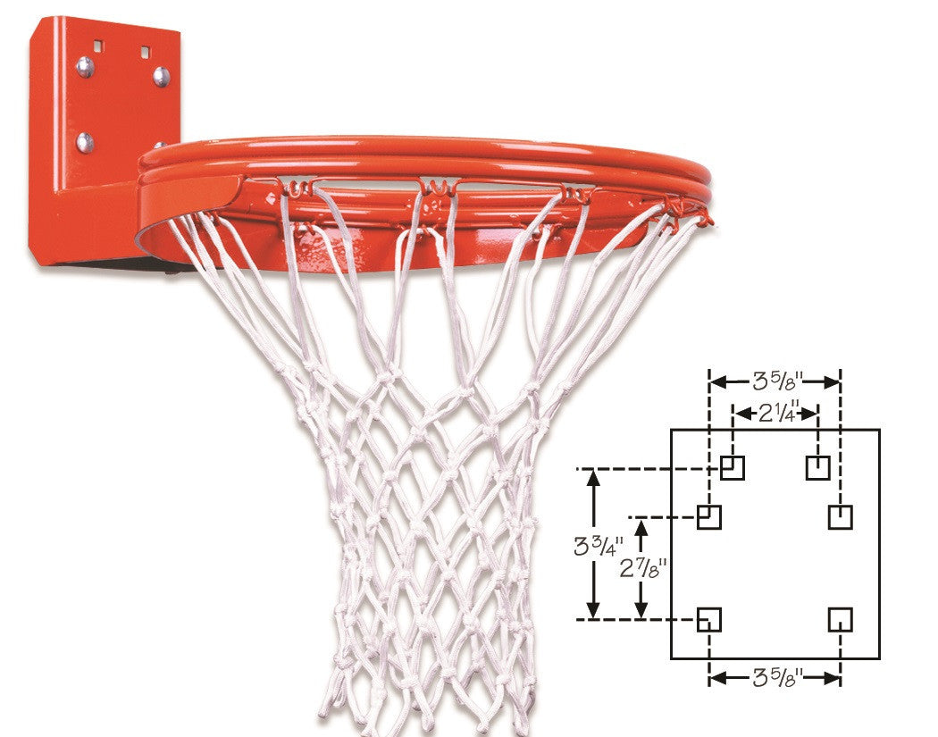 First Team Super Duty Double Rim Rear Mount Fixed Basketball Goal FT170DR