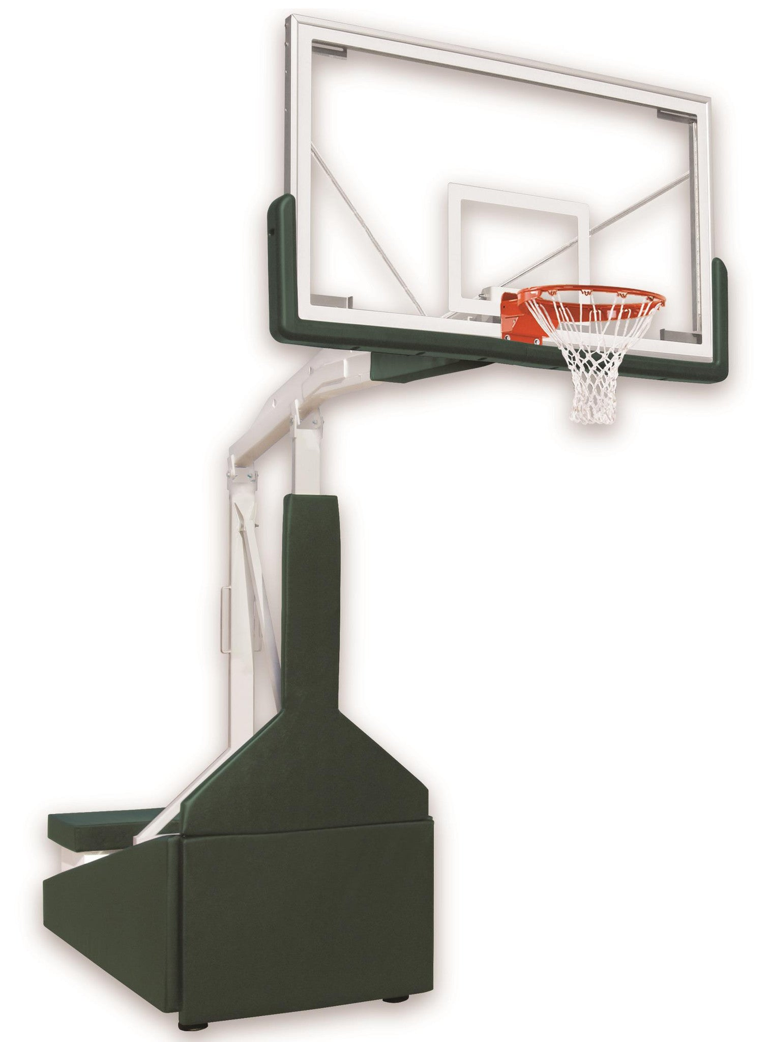 First Team Tempest Triumph FL Portable Adjustable Basketball Hoop 72 inch Tempered Glass for Floating Floors