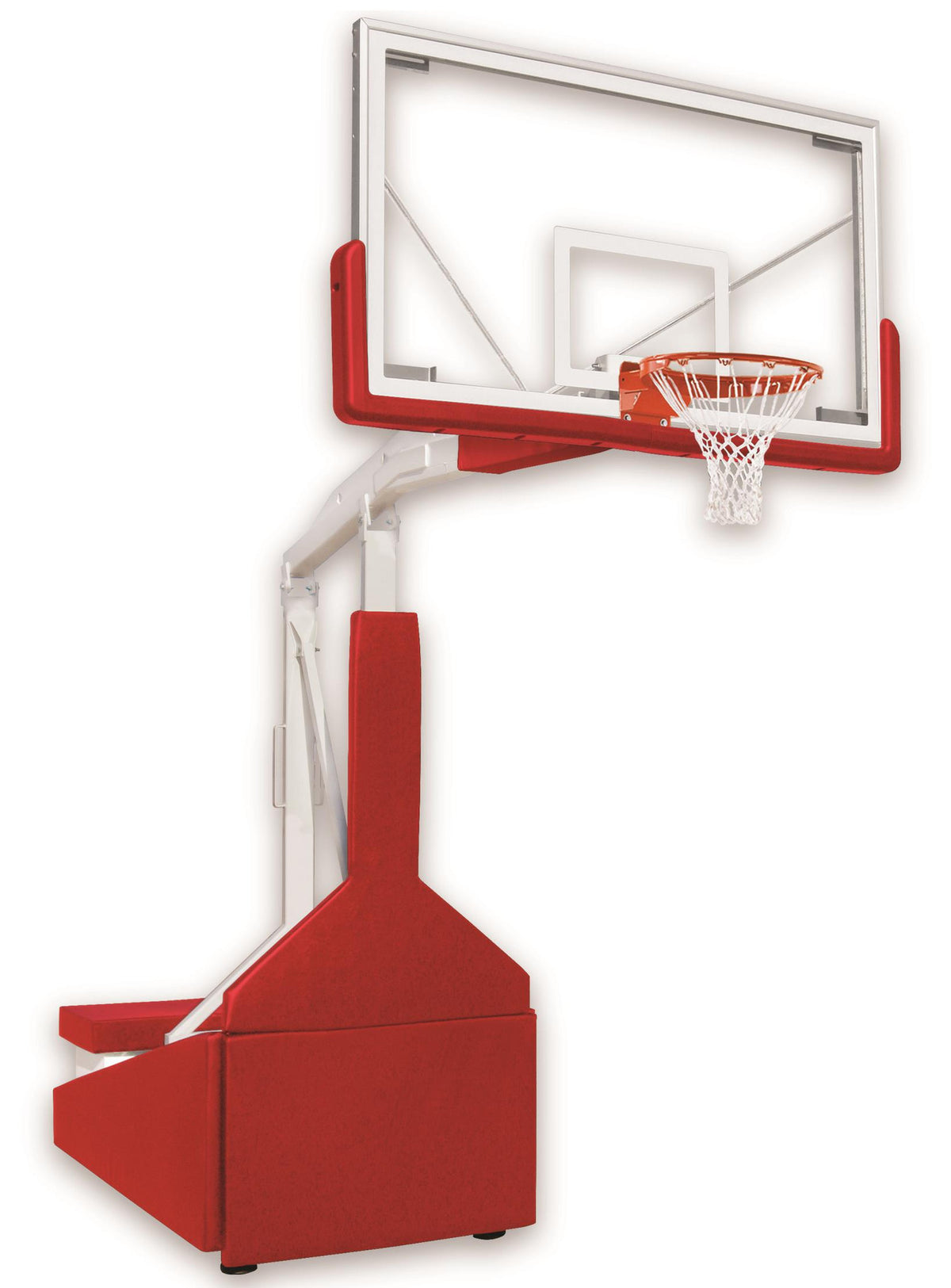 First Team Tempest Triumph Portable Adjustable Basketball Hoop 72 inch Tempered-Glass