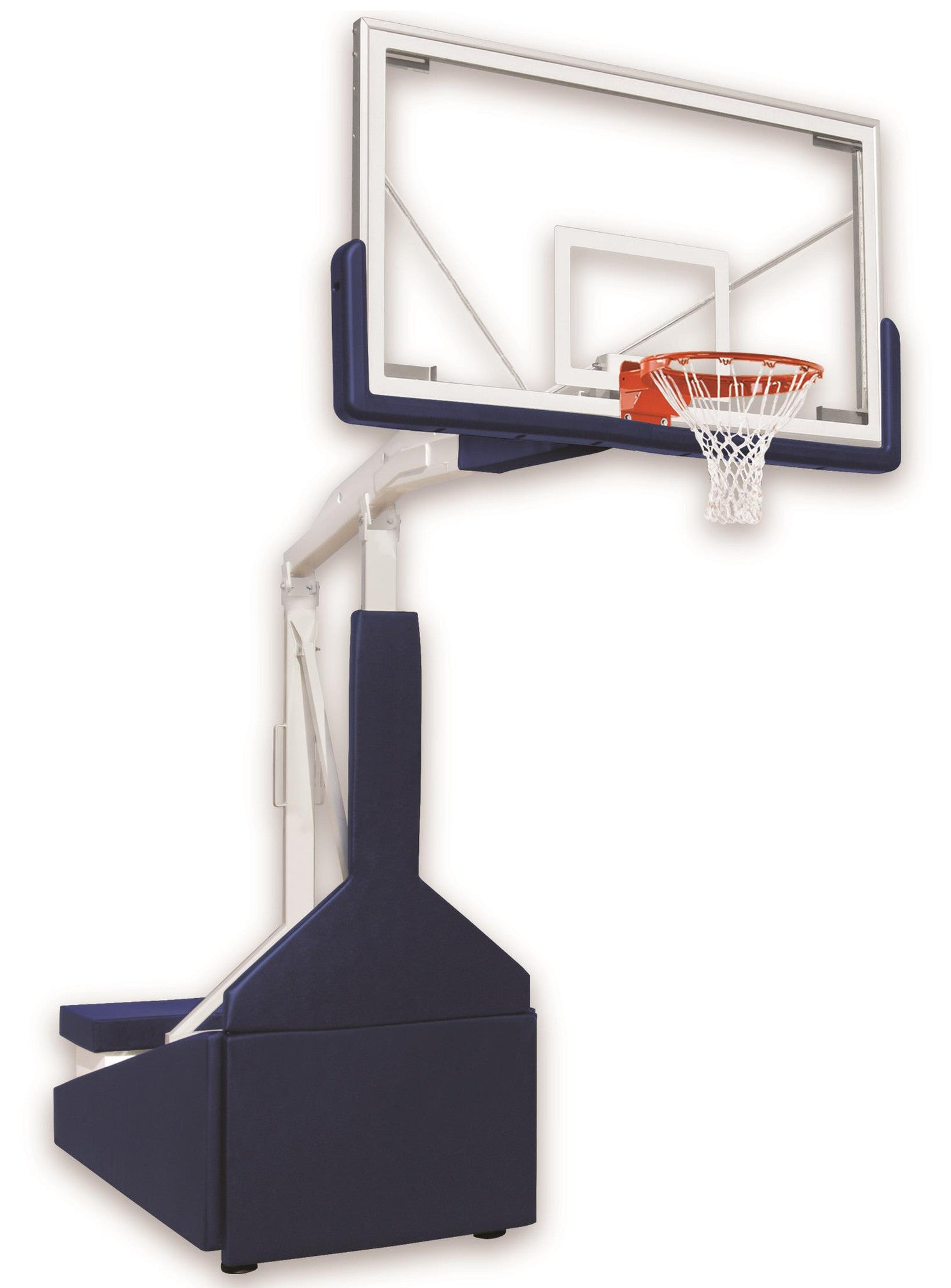 First Team Tempest Triumph ST Portable Adjustable Basketball Hoop 72 inch Tempered Glass for Standard Floors