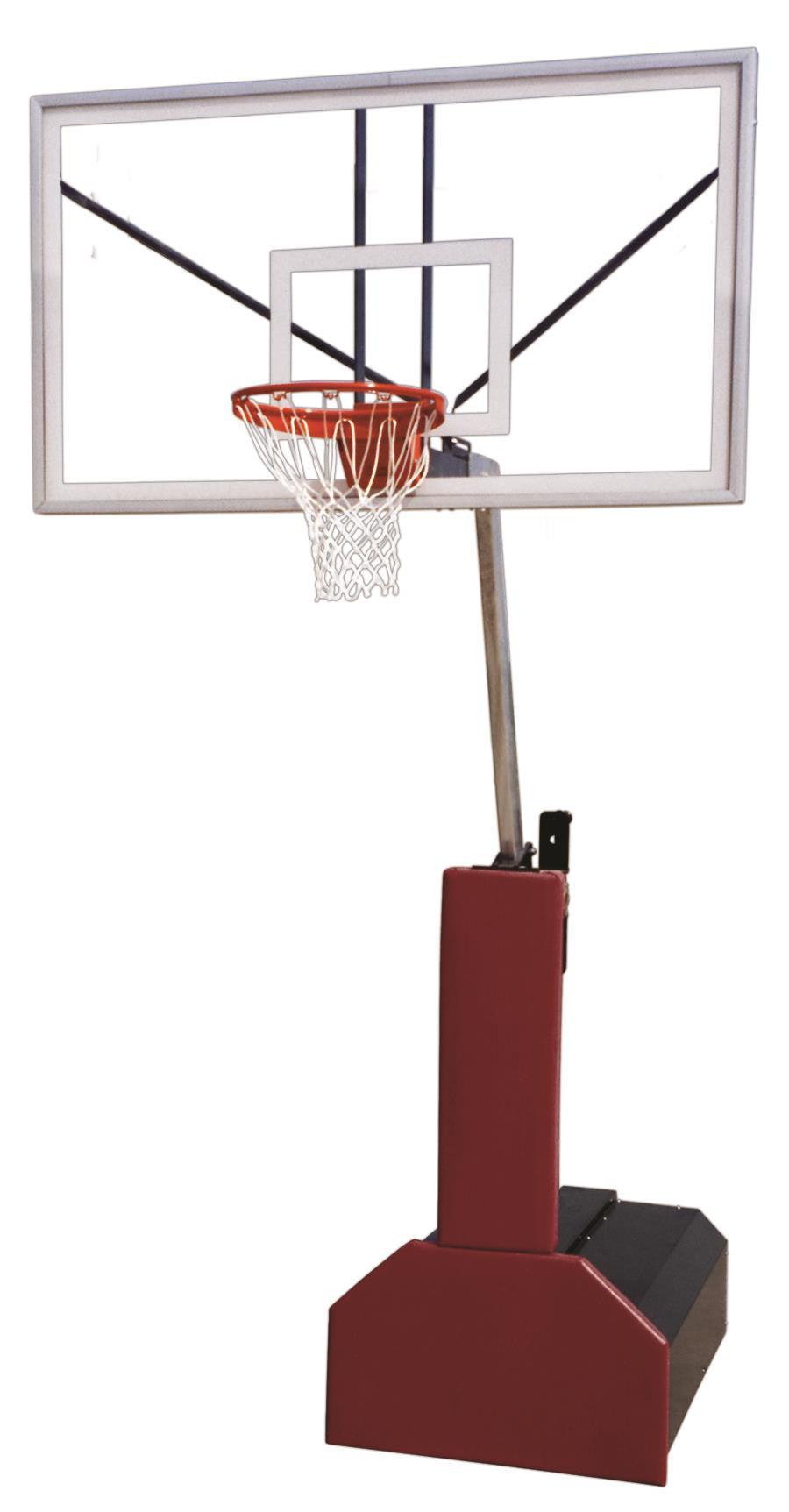 First Team Thunder Arena Portable Adjustable Basketball Hoop 72 inch Tempered Glass
