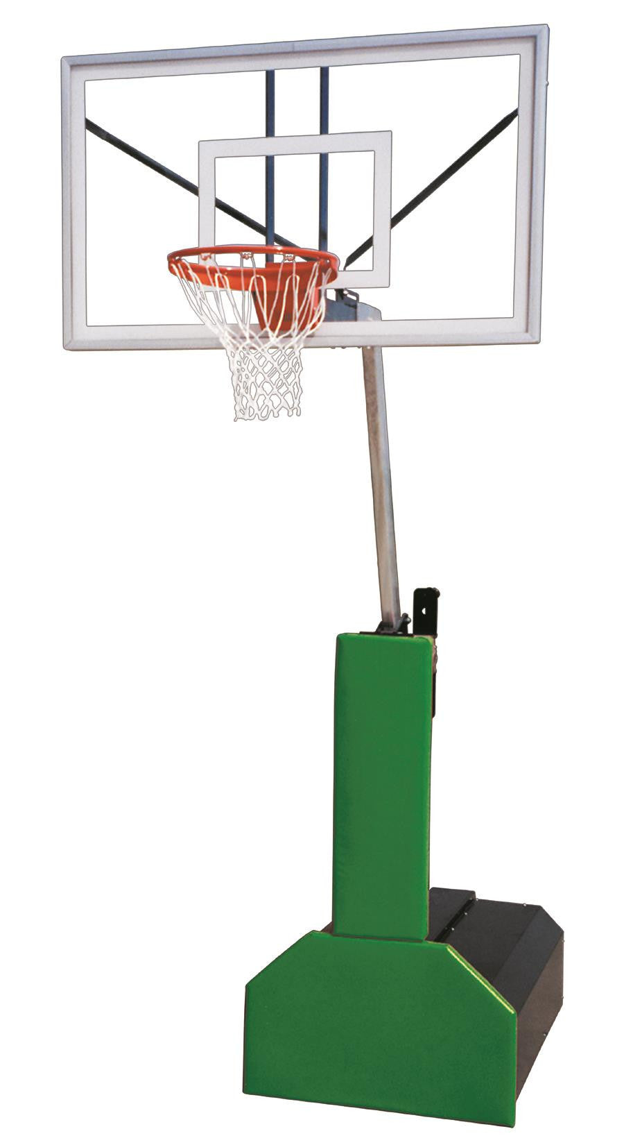 First Team Thunder Pro Portable Adjustable Basketball Hoop 60 inch Tempered Glass