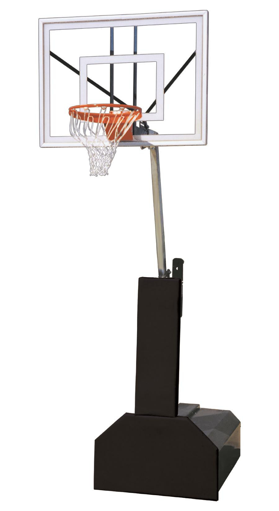 First Team Thunder Ultra Portable Adjustable Basketball Hoop 54 inch Tempered Glass