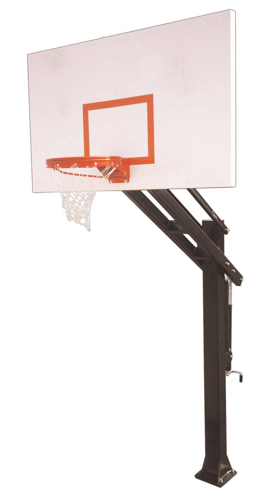 First Team Titan Excel In Ground Outdoor Adjustable Basketball Hoop 72 inch Steel