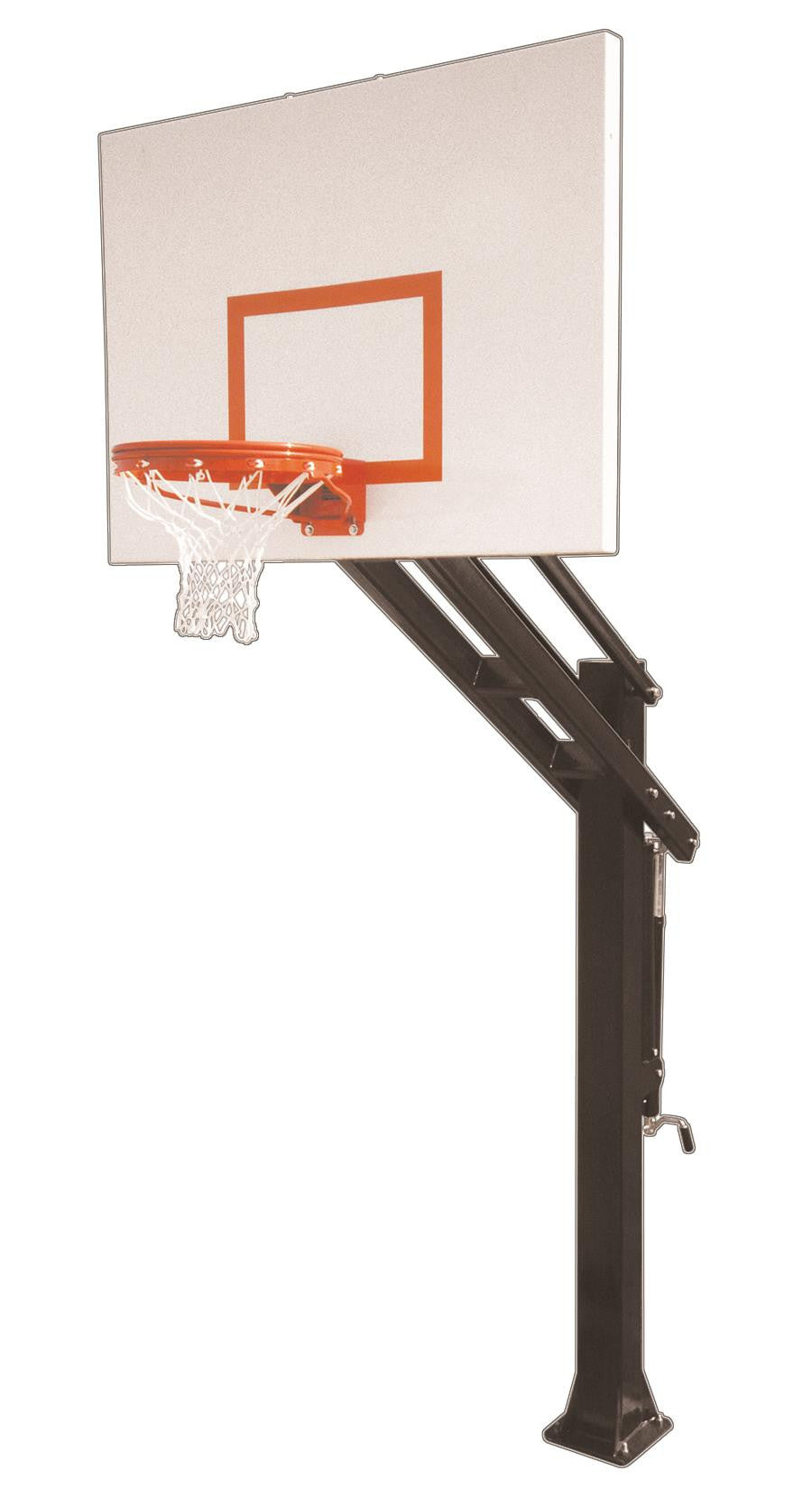 First Team Titan Impervia In Ground Outdoor Adjustable Basketball Hoop 60 inch Aluminum