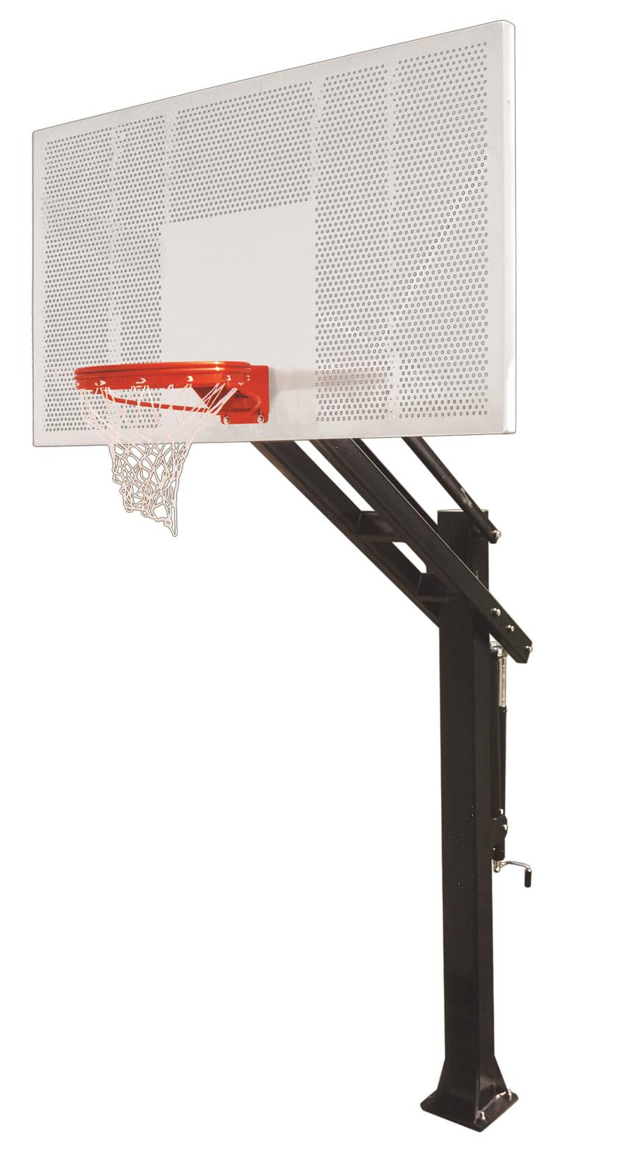 First Team Titan Intensity In Ground Outdoor Adjustable Basketball Hoop 72 inch Perforated Aluminum