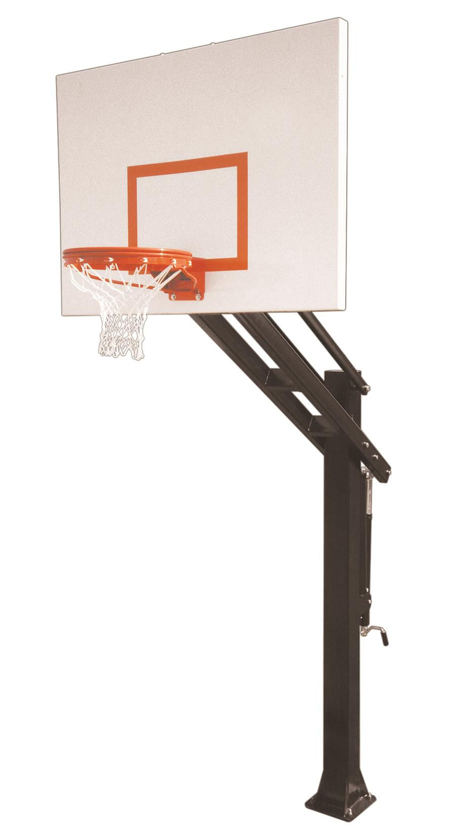 First Team Titan Playground In Ground Outdoor Adjustable Basketball Hoop 60 inch Steel