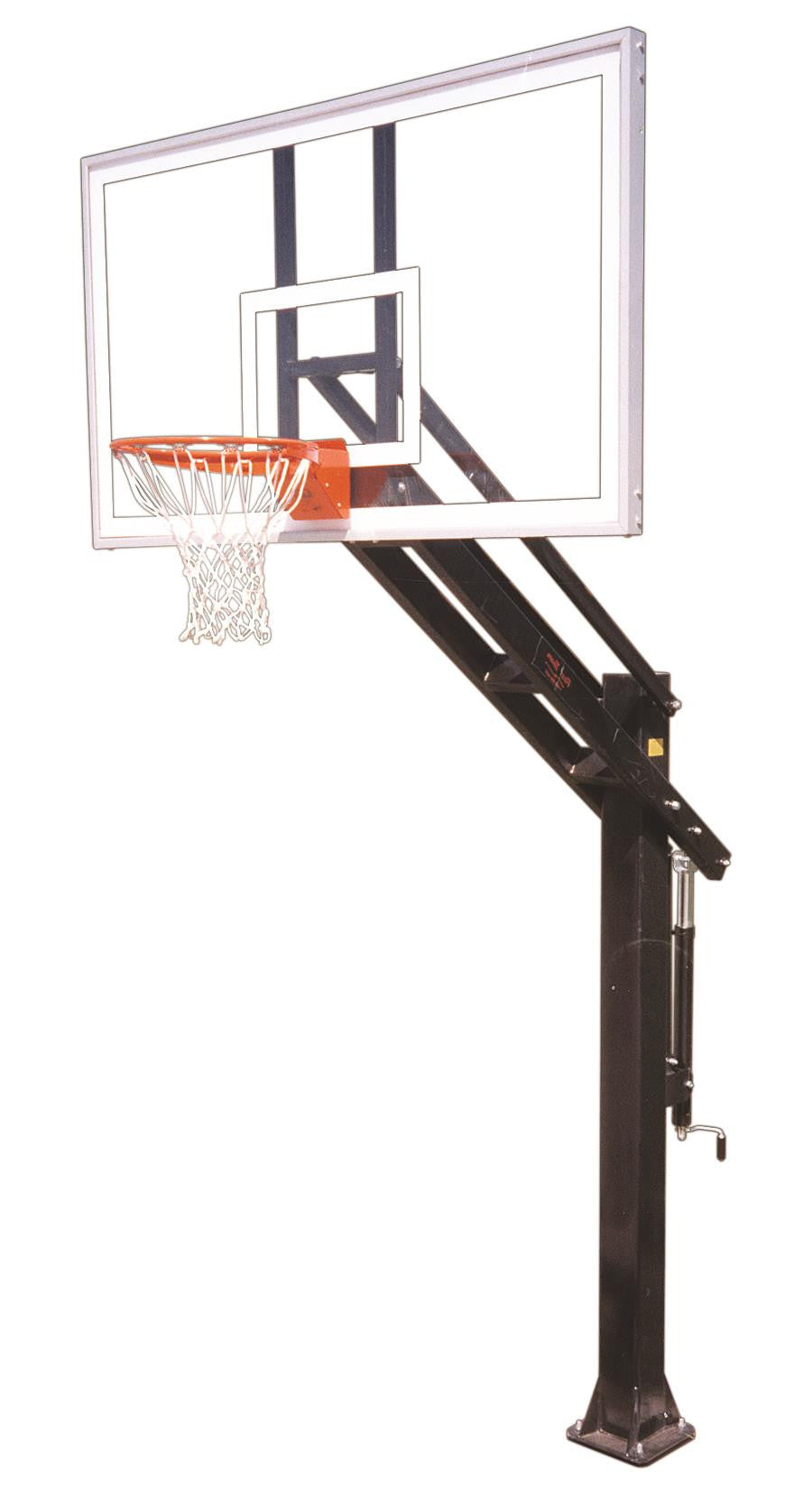 First Team Titan Supreme In Ground Outdoor Adjustable Basketball Hoop 72 inch Acrylic