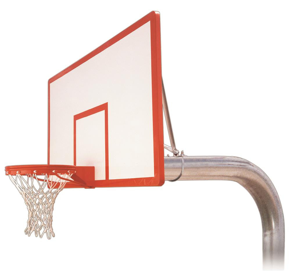First Team Tyrant Dynasty In Ground Outdoor Fixed Height Basketball Hoop 72 inch Fiberglass