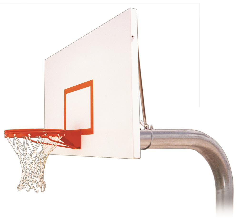 First Team Tyrant Excel In Ground Outdoor Fixed Height Basketball Hoop 72 inch Steel